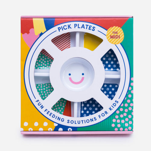 Round compartment plate for fussy eaters